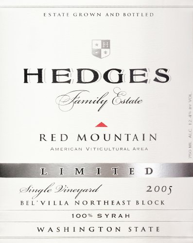 2005 Hedges Family Estate Single Vineyard Limited Syrah 750 Ml