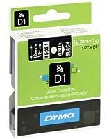 Dymo D1 Étiquettes Standard 12 mm x 7 m - Blanc sur Noir