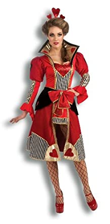 Rubie's Costume Deluxe Queen Of Hearts Costume, Red, Small