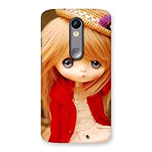 Tiny Bride Girl Multicolor Back Case Cover for Moto X Force