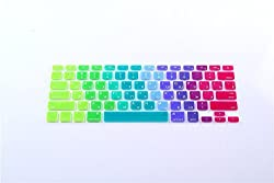 DHZ Russian Language Silicone Keyboard Cover Skin for Macbook 13