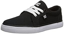 DC Council TX Skate Shoe (Little Kid/Big Kid), Black/White, 12 M US Little Kid