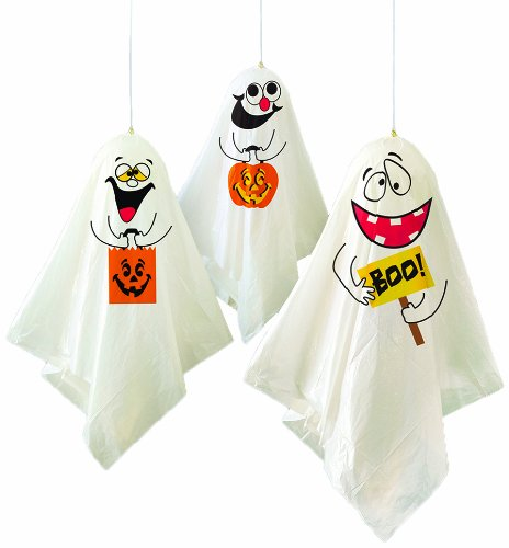 "35"" Hanging Ghost Halloween Decorations, 3ct - 1"