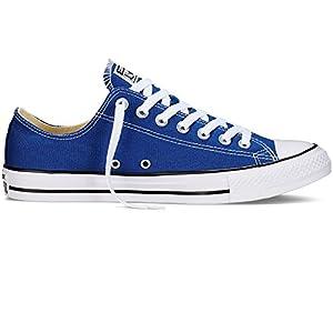 Converse Mens Chuck Taylor All Star Ox Fashion Sneaker Basketball Shoe, ROADTRIP BLUE/WHITE/BLACK, 6