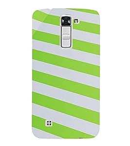 PrintVisa Stripes Pattern 3D Hard Polycarbonate Designer Back Case Cover for LG K10