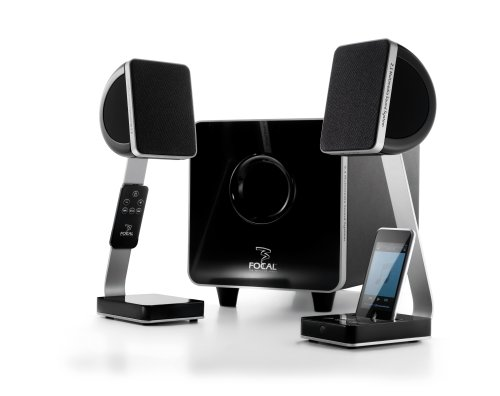 Focal XS Satellite Speakers  Dock for iPod and