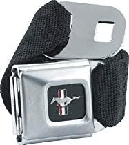 Ford Mustang Emblem Seatbelt Belt SBB Strap Color: Charcoal