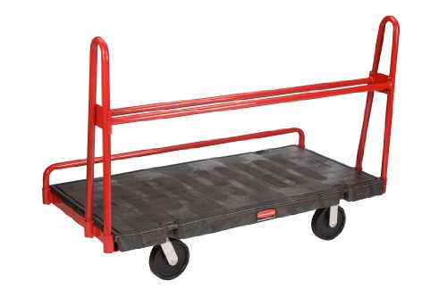 Rubbermaid Commercial FG446400 A-Frame Panel Platform Truck, 2000 lbs Capacity, 60