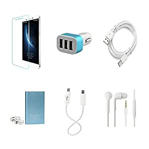 High Quality Combo of LeTV 1s Temper Glass + Car Charger 3 USB + Type C Data ...