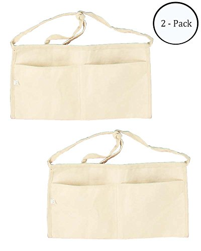"8"" x 16"" Waist Style Apron With Large Roomy Pockets And Long Waist Ties. : ( Pack of 2 Pcs. )"