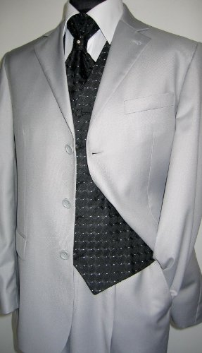 MUGA mens Suit, two pieces, Light Grey, size 54L (EU 122)