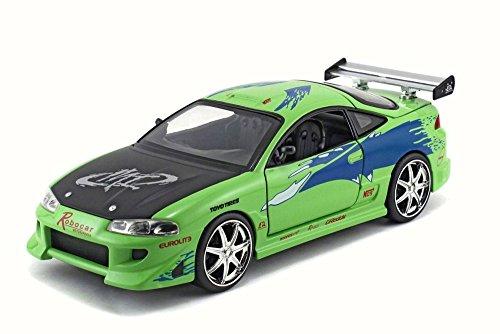1995-brians-mitsubishi-eclipse-lime-green-jada-toys-98205dp1-1-24-scale-diecast-no-box