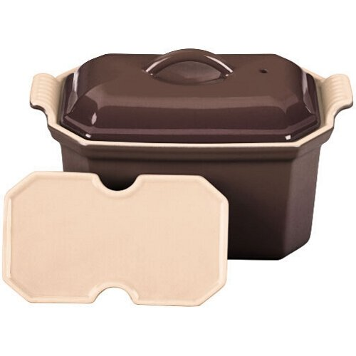 Le Creuset Heritage Truffle Stoneware Pate Terrine With Press, .75 Quart