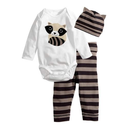 New Cotton Baby Clothing Set 3 Pcs For Age (7-9 Months)