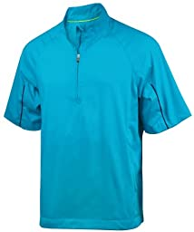 adidas Men\'s climaproof Wind Short Sleeve Jacket \'12 - Aquatic - Medium