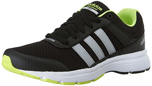 Adidas NEO Men's Cloudfoam VS City Shoes,Black/Metallic Silver/Yellow,14 M US