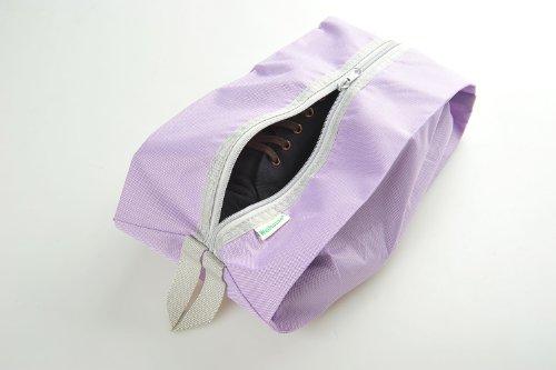 Schuhtasche / -beutel für Reisen aus einfachem Stoff, Farbe: violett, Mod. JE-00013-VIOLET
