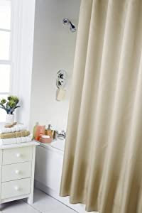 Spectrum 180 x 180 cm Shower Curtain and Rings Set, Cream