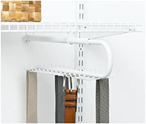 Rubbermaid Configurations Tie and Belt Organizer, 30-Hook, White (FG3H98DWWHT)
