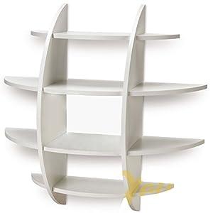 Mensola da parete sferica design porta cd libri camera - Porta coperchi pentole ikea ...