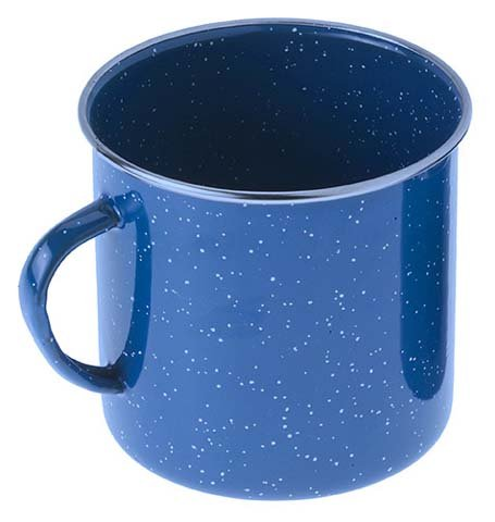 Gsi Outdoors 18 Oz Stainless Steel Rimmed Blue Graniteware Cup, 33209