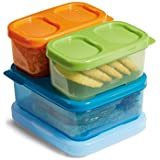 Rubbermaid LunchBlox Kids Tall Lunch Kit, Blue/Orange/Green, 1866739