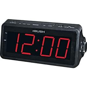essentialz bush jumbo display alarm clock radio black kitchen home. Black Bedroom Furniture Sets. Home Design Ideas