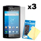Three LCD Screen Guards / Protectors for Samsung Captivate SGH-I897 - Cbus  ....