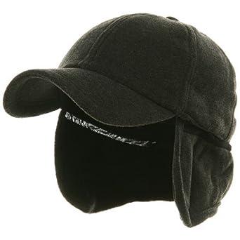 Fleece Earflap Ball Cap - Charcoal