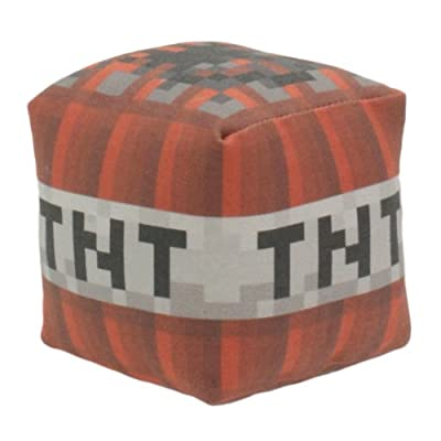 Minecraft Tnt Block Plush Toy Medium by Happy Toy Machine