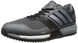 adidas Performance Men\'s Crazytrain Boost Training Shoe,Dark Grey/Night Metallic/Solar Red,15 M US