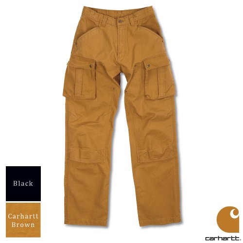 Carhartt Workwear Duck Tech Mens Cargo Trousers Black Waist 30 Inch - Leg 30 Inch