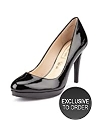Autograph Coated Leather Platform Court Shoes with Insolia