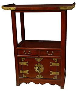 Oriental furniture unique end table or extra for Extra tall nightstands