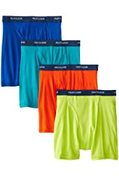 Fruit of the Loom Men's 4-Pack Low Rise Boxer Brief - Colors May Vary