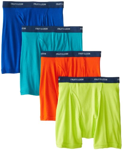 Fruit of the Loom Men's  Low Rise Boxer Brief - Colors May Vary(Pack of 4)