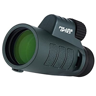 Polaris Optics EagleEye 8X42 Compact Wide View Monocular for Deliciously Bright, Crisp Images. One Hand Focus. Lightweight, Waterproof, Fogproof, Tripod Capable. For Bird Watching and Hiking by Polaris Optics