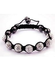 2 x Stackable friendship bracelet handmade Genuine Clear Swarovski Crystals