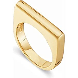 18K Yellow Gold Stackable Fashion Ring - Size 6.5 -- LIFETIME WARRANTY