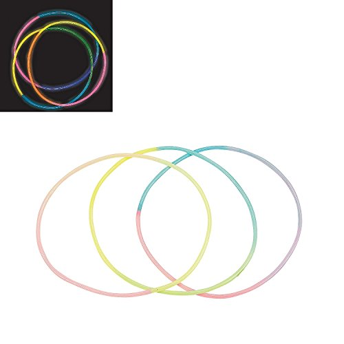 TRICOLOR GLOW-IN-THE-DARK NECKLACES (1 DOZEN) - BULK