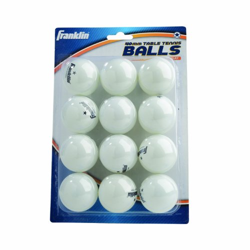 Franklin sports 1 star table tennis balls pack of 12 for 1 gross table tennis balls