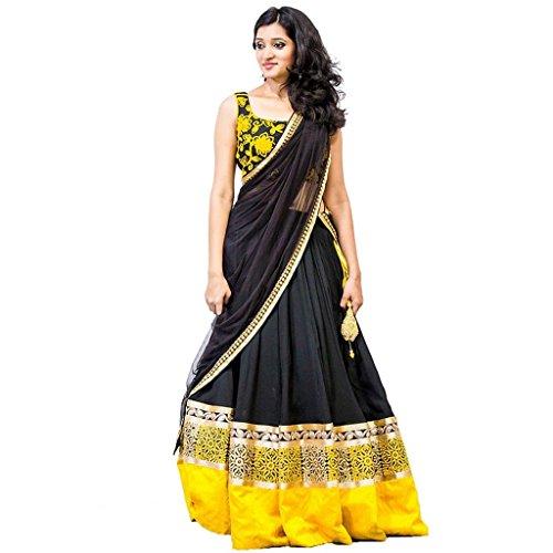 Janasya-Womens-Georgette-Lehenga-Choli-HS-LEN-005BlackFree-Size