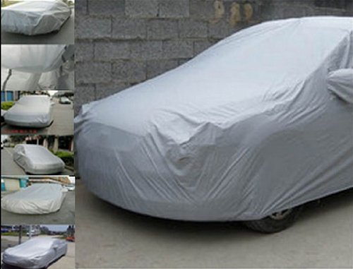 "Thg Silver Full Car Cover Protector Sun Uv Protective Dust Moist Xl Extra Large Size 5X1.85X1.5M (196""X73""X59"") front-849699"