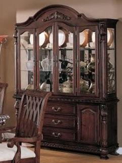 Buy Low Price Poundex Lincoln Collection Buffet/Hutch in Cherry Finish by Poundex (F6064)