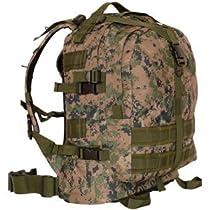 Military MOLLE Large Transport Backpack, Digital Woodland