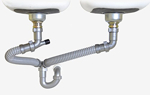 Snappy Trap 1 1 2 Quot Drain Kit For Double Kitchen Sinks New