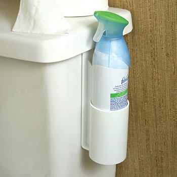 bathroom toilet air freshener spray can holder