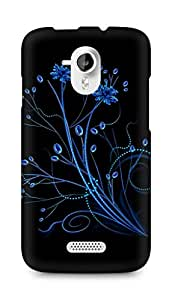 Amez designer printed 3d premium high quality back case cover for Micromax Canvas HD A116 (Abstract Dark 2)