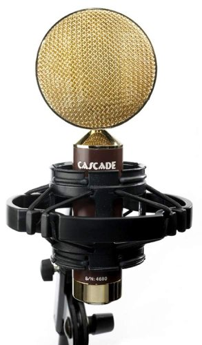 Cascade Microphones Fat Head Ii Ribbon Microphone, Brown And Gold, With Lundahl Ll2912 Transformer