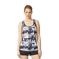 adidas Women's Body Blouse Top (AJ6376_Black and Multicolor_S)